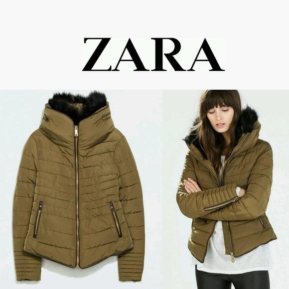 d25261fec9 Women's Zara Anorak Puffer Jacket Size Medium